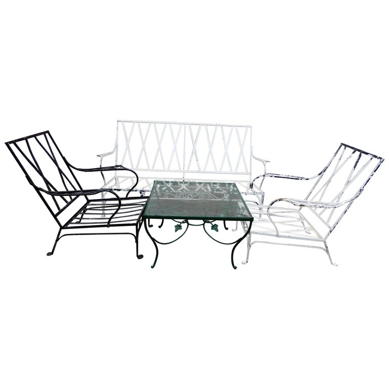 Salterini Patio Set 4-Piece Mt Vernon Ready to be Restored For Sale