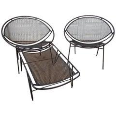 Salterini Radar Iron Chaise Lounge Chair Patio Set