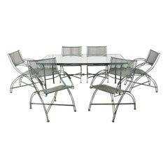 Salterini Style Wrought Iron Patio Garden Dining Set