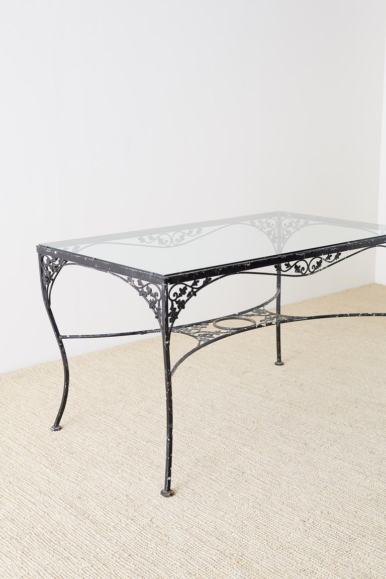 Salterini Patio Furniture Parts: Salterini Style Wrought Iron Patio Garden Table For Sale