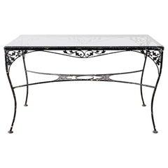 Salterini Style Wrought Iron Patio Garden Table