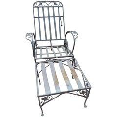 Salterini Vintage Two-Piece Chaise Lounge Mt Vernon Pattern