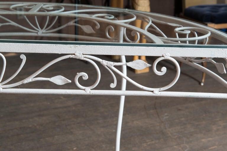 Salterini Wrought Iron Demi Lune Console Table For Sale 5