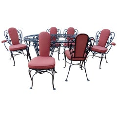 Salterini Wrought Iron Indoor Dining Set 7 Pieces