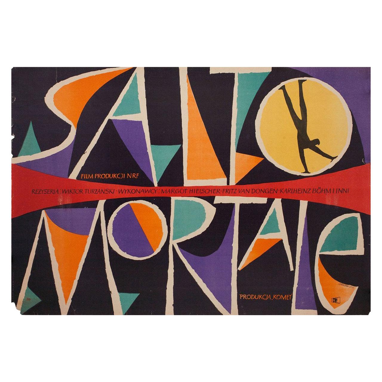 """Salto Mortale"" 1956 Polish A1 Film Poster"