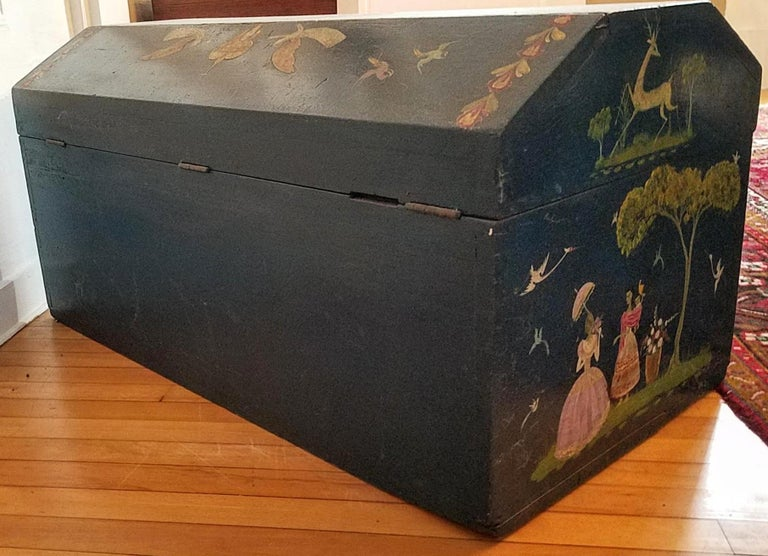 Salvador Corona Painted Blanket Chest, Mexico, circa 1940 For Sale 2