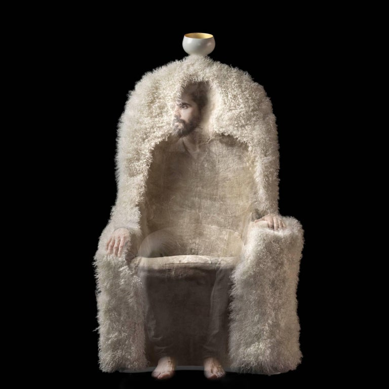 Salvador Dali, Contemporary, Limited Edition 'Invisible Personage' Armchair For Sale 3