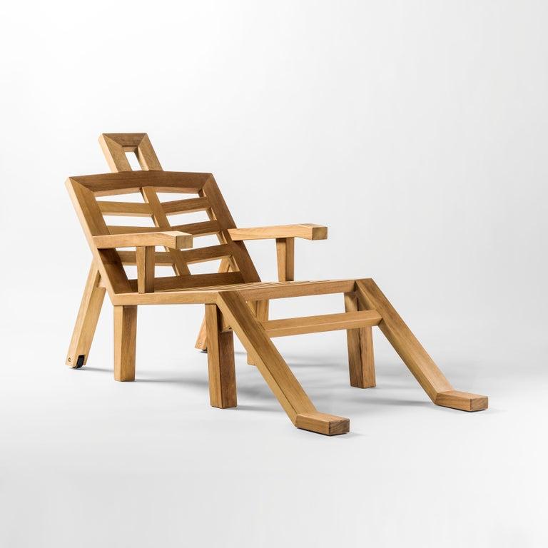 Salvador Dali Contemporary Portlligat Wood Sculpture Sunbed In Excellent Condition For Sale In Barcelona, Barcelona