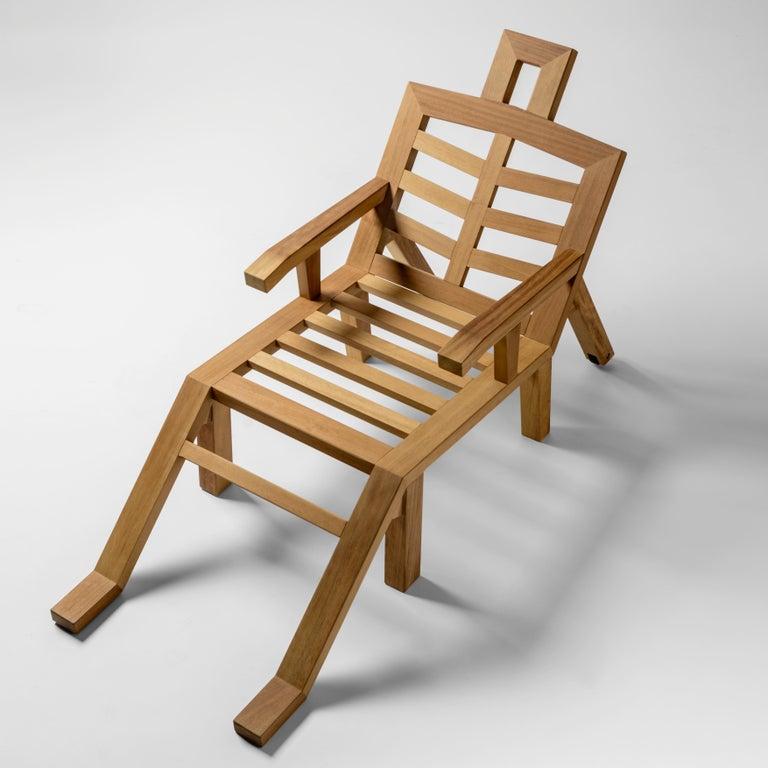 Salvador Dali Contemporary Portlligat Wood Sculpture Sunbed For Sale 1