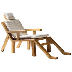 Salvador Dali Contemporary Portlligat Wood Sculpture Sunbed with Cushion