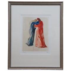 Salvador Dali Dante et Beatrice Divine Comedy Woodcut Engraving Purgatory 29