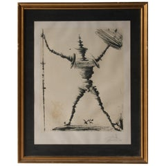 Salvador Dalí Don Quixote of La Mancha Signed Lithography, Spain, 1985
