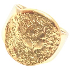 Salvador Dali D'or for Piaget Yellow Gold Signed Ring