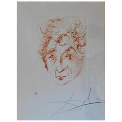 """Salvador Dali """"Ghagall"""" Hand Signed Limited Edition Print"""