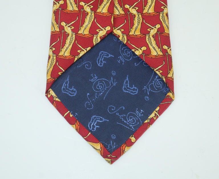 Salvador Dali Italian Silk Necktie, La Femme En Flammes For Sale 1