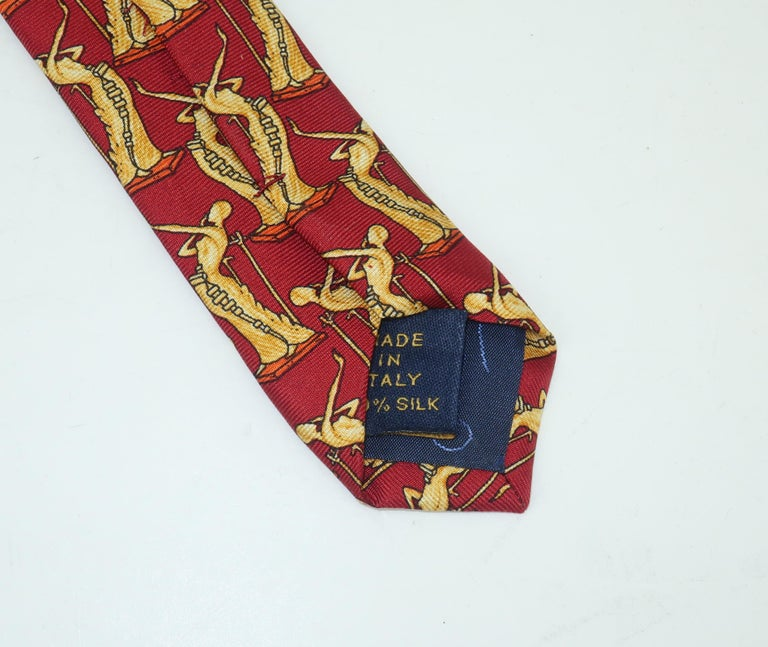 Salvador Dali Italian Silk Necktie, La Femme En Flammes For Sale 2
