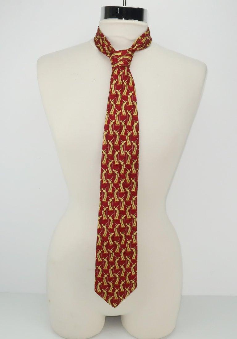 Salvador Dali Italian Silk Necktie, La Femme En Flammes For Sale 3