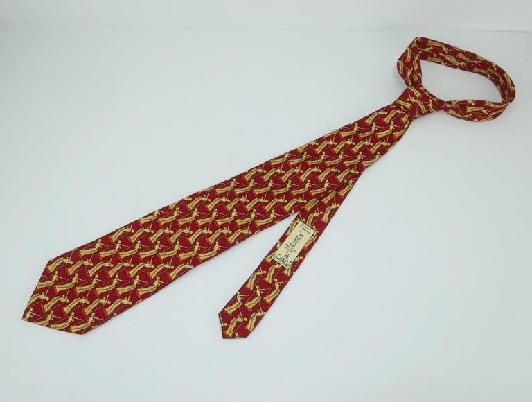 Salvador Dali Italian Silk Necktie, La Femme En Flammes For Sale 4