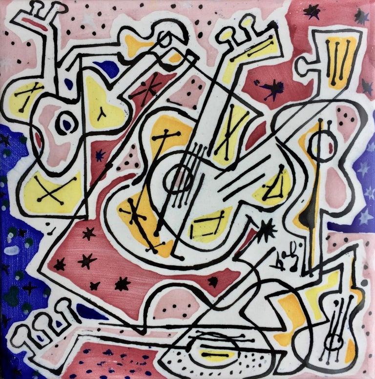 """Mid-20th Century After Salvador Dali """"La Suite Catalane"""" Set of 6 Dali Tiles, 1954 For Sale"""