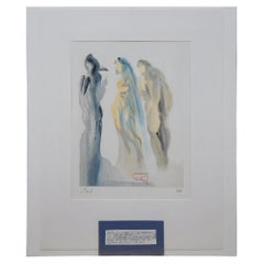 Salvador Dali Le Ciel de Venus Divine Comedy Woodcut Engraving Paradise 9