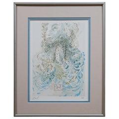 Salvador Dali Le Prescience Divine Comedy Wood Engraving Portrait Paradise 17