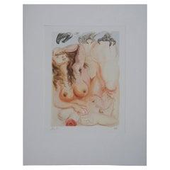 Salvador Dali Le Songe Divine Comedy Woodcut Engraving Nude Purgatory 9