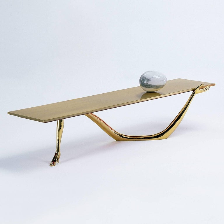Leda low table designed by Dali manufactured by BD.