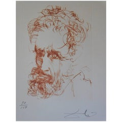 "Salvador Dali ""Michelangelo"" Hand Signed Limited Edition Print"