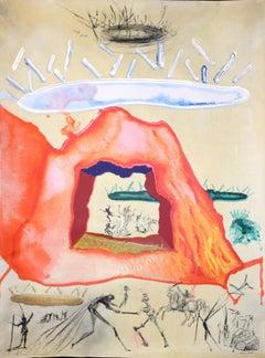 Le Creuset Philosophal - Original Mixed Media by Salvador Dalì - 1976