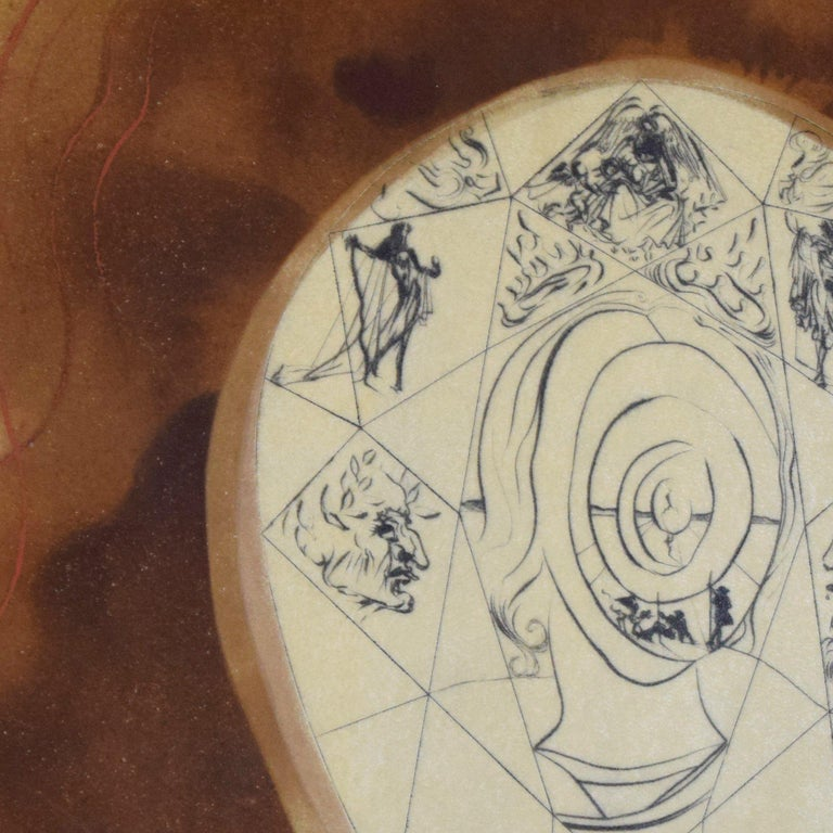 L'Immortalité - L'Alchimie des Philosophes - 1976 - Salvador Dalì - Modern Art For Sale 1