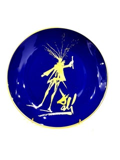 Salvador Dali - Faust - Original Limoges Porcelain Blue and Gold