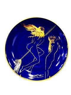 Salvador Dali - Sabat - Original Limoges Porcelain Blue and Gold