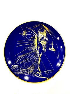 Salvador Dali - Venus - Original Limoges Porcelain Blue and Gold
