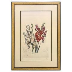 Salvador Dali Original Limited Edition Signed Lithograph Pirate's Gladioli, 1972
