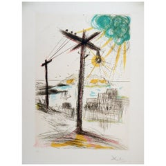 Salvador Dali Original Lithograph, 1970, Telegraph Hill