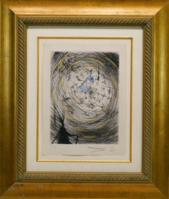 """Faust """"Sator"""", Original Hand-colored Copper Etching (39/50)"""