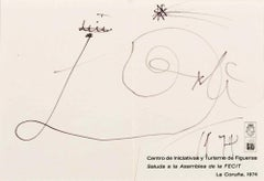 Salvador Dali - 1974 - Original drawing with a marker on paper