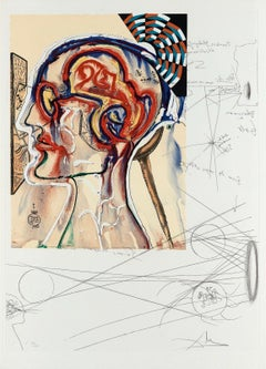 Spectacles with Holograms & Computers, Limited Edition Lithograph, Salvador Dali