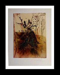 """ L´ autonne"" lithograph certificate painting"