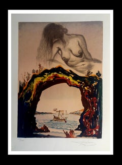 """"""" La Sirene"""" lithograph certificate painting"""