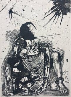 """ SEGISMUNDO ENCADENADO"" etching painting"