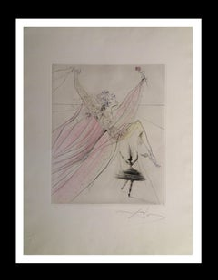 """"""" Terpsichore"""" lithograph certificate painting"""