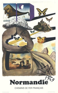 1970 After Salvador Dali 'Normandie' Surrealism France Offset Lithograph