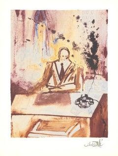 1989 Salvador Dali 'The Businessman' Surrealism Multicolor,Brown France Offset