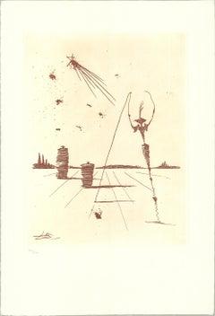 2001 Salvador Dali 'L'Astre' Surrealism Spain Etching
