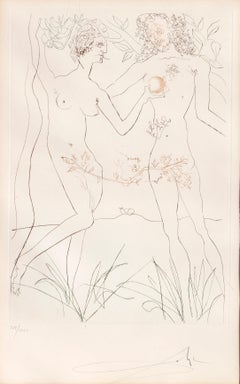 Adam and Eve from Dali's Famous Lovers Suite