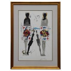 """Alice in Wonderland the Queen's Croquet Ground"" Surrealist Lithograph"