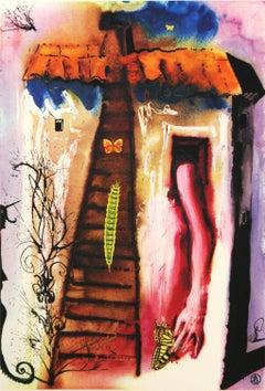 Alice in Wonderland The Rabbit Sends In A Little Bill by Salvador Dali 1969