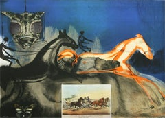 American Trotting Horse No II  from Currier & Ives suite by Salvador Dali
