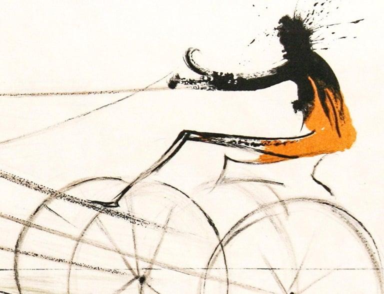 American Trotting Horses No. I - Surrealist Print by Salvador Dalí